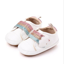 New Baby Shoes Infants PU Casual First Walkers Soft Anti-Sli