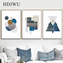 Nordic Art Home Decor Canvas Painting Wall Picture Abstract GeometryPrinting Poster for Living Room  DJ373