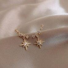 Neue Art Und Weise Nette Sterne Gold Ohrringe Top Qualität Kristall clssic Charme gold Ohrringe Für Frauen Mädchen Schmuck Geschenk