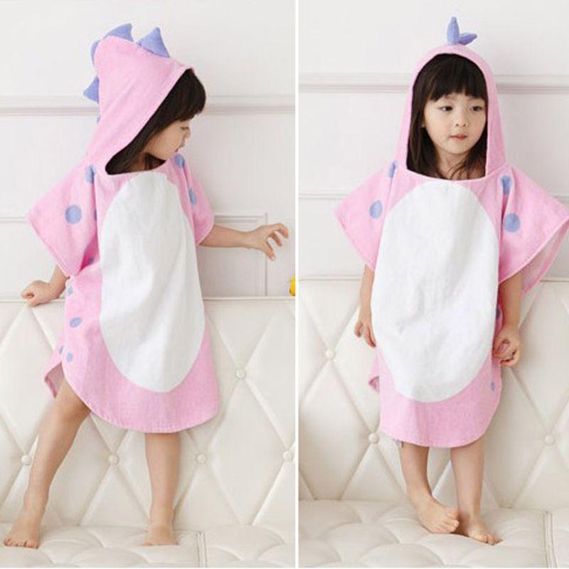 Детское банное полотенце с капюшоном и лапой динозавра; детское пляжное полотенце; купальный халат для младенцев
