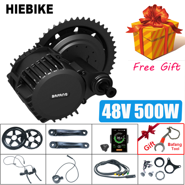 Bafang 500W 48V BBS02 Electric Bike Mid Drive Motor 8fun BBS02B Ebike Conversion Kit Electric Bicycle Powerful Motor C18 Display