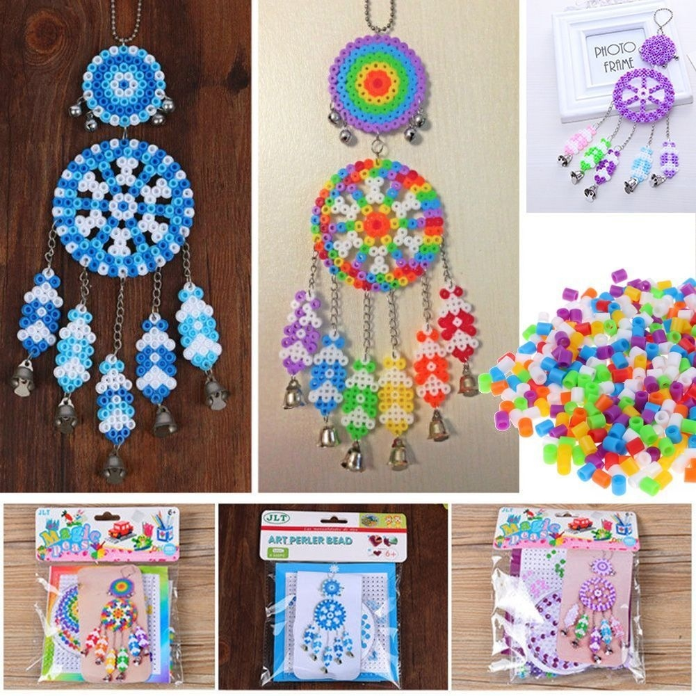 3style Dream Catcher Windbell DIY Kit Fuse Beads 5mm Hama Beads With Templates Accessories For Kids 3D Puzzle Educational Toys
