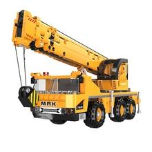 XINGBAO 03036 NEW City Engineering Series 657pcs Crane Machinery Building Blocks Truck Bricks Compatible Legoings