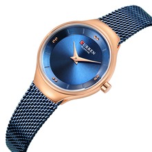CURREN Female Watches New Arrival Fashion Women Watch Stainless Steel Ladies Waterproof Daintiness Zegarek Damski Hardlex