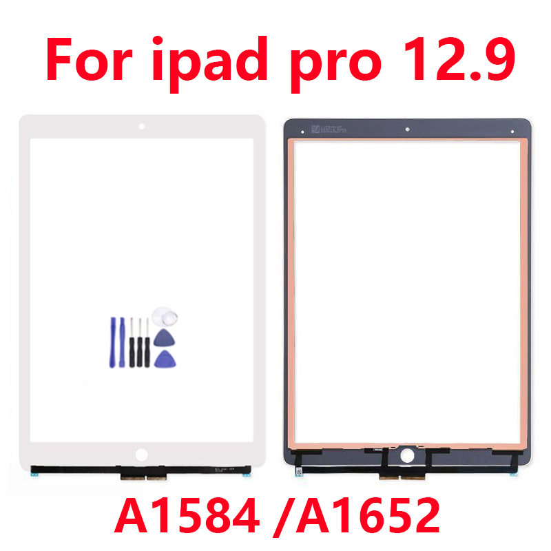 New Touch Screen for apple iPad Pro 12.9 Display no Home Button Front Glass Panel Digitizer Replacement +2Gifts A1584 A1652