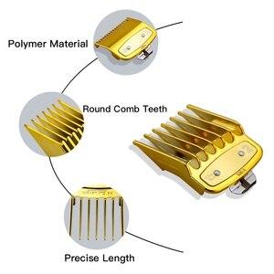 Image 4 - Mythus Metalen Tondeuse Gids Kam Set Barber Tondeuse Limiet Kam Snijden Attachment Universele Tondeuse Guards In Goud