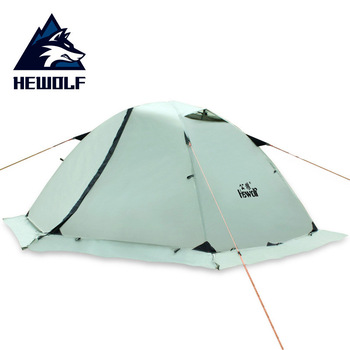 Hewolf Outdoor Professional Double-layer Tent Wild Snow Mountain Camping Equipment Multi-Person Ultra-light Snow Skirt Tent 1