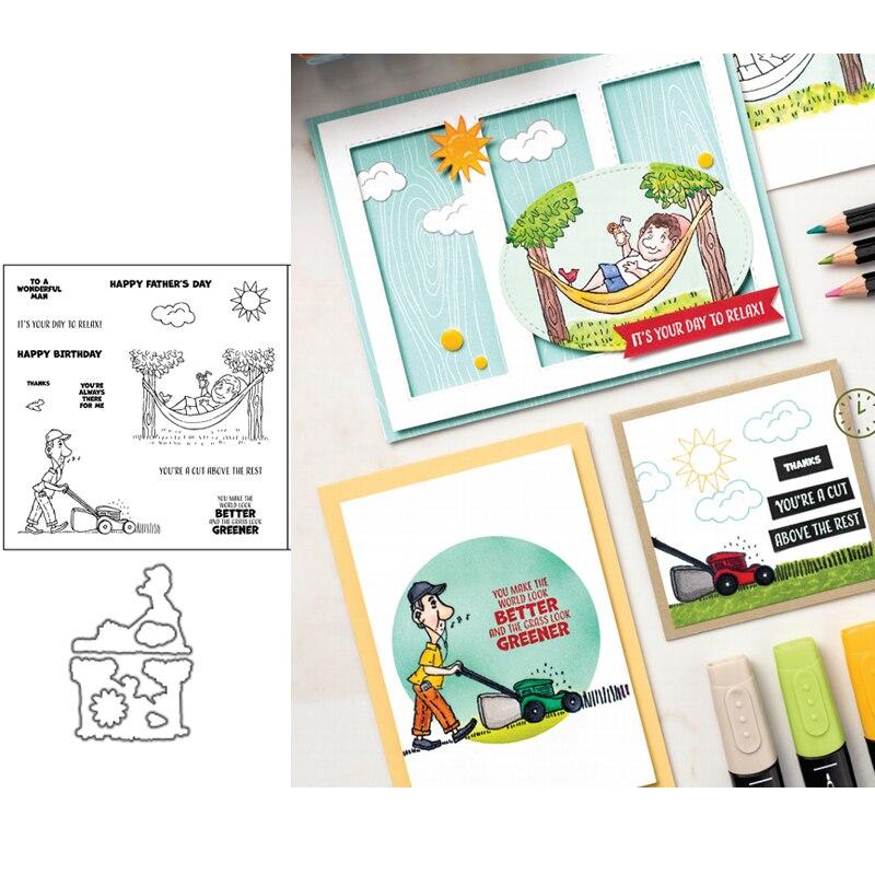 Couper au-dessus des matrices de découpe en métal et des timbres pochoir pour bricolage Scrapbooking Album gaufrage cartes de papier artisanat décoratif