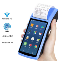 JEPOD Android POS Terminal Touch Screen Pos System Android 6.0 Portable PDA Support wifi bluetooth GPS 58mm Printer