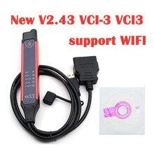 ล่าสุดV2.43 VCI 3 VCI3เครื่องสแกนเนอร์รองรับWIFIสำหรับScaniaรถบรรทุกและHeavyยานพาหนะหลังจาก2004ปีการวินิจฉัยระบบเครื่องมือ