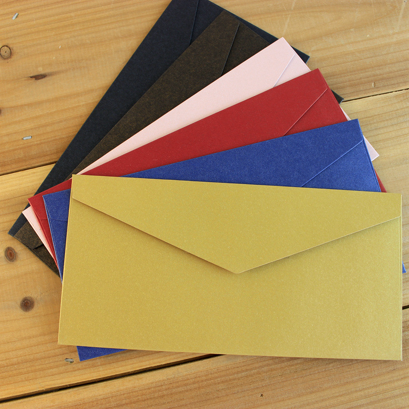 Western Retro Kraft Envelope Top Grade Business Invitation Decoration Envelope Large Size Colored Envelope Customizable