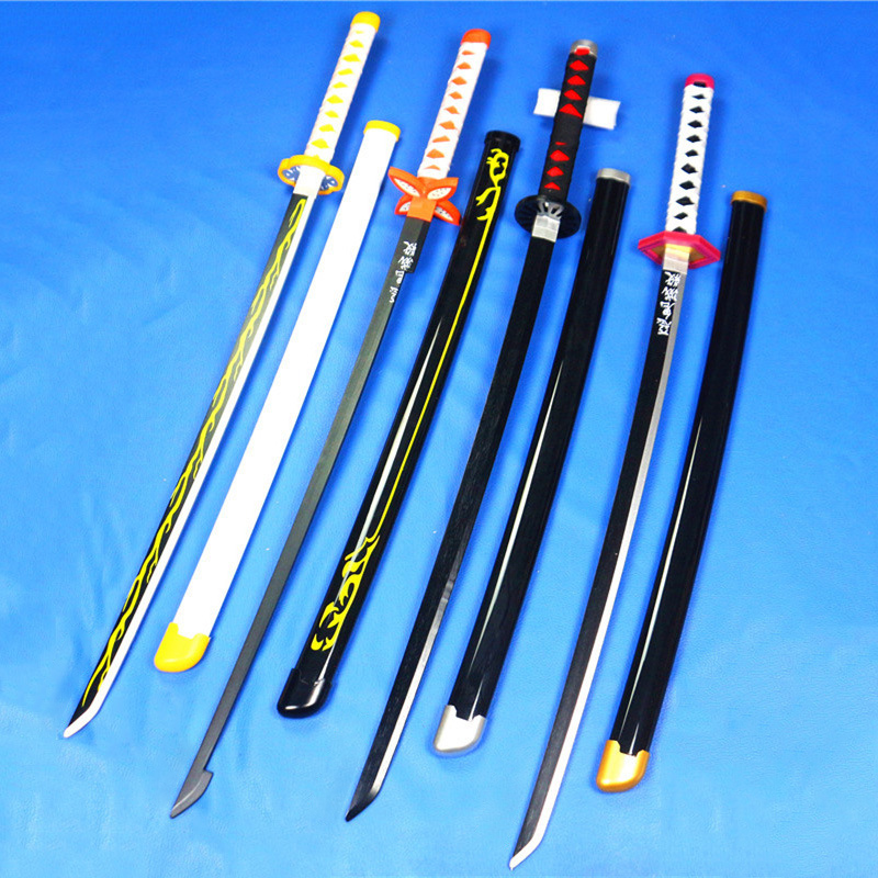 Devil's Blade Wooden Sword Weapon Anime Demon Slayer Cosplay Samurai Sword Katana Butterfly Ninja Knife Espada Prop Toy For Teen