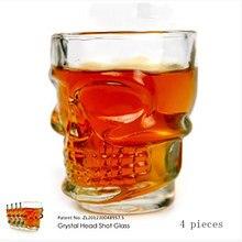 Créatif classique crâne whisky verre mode personnalité rouge vin verre ensemble 4 paquets moderne Simple Bar Vodka bière verre