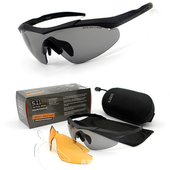 5.11 Tactical Eye-protection Goggles Shooting Explosion-Proof Glasses Riding 511 Glasses 52058 Impact Resistance Army Fans Glass