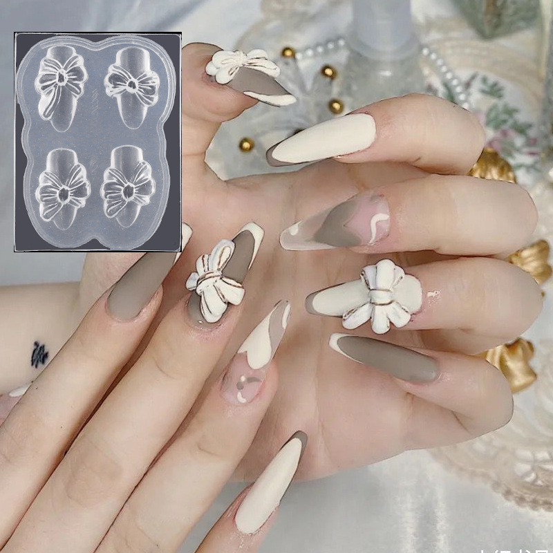 Stampo in Silicone 3D farfalla scultura per unghie stampi per timbri Gel stampo acrilico morbido per Manicure francese accessori per modelli di unghie