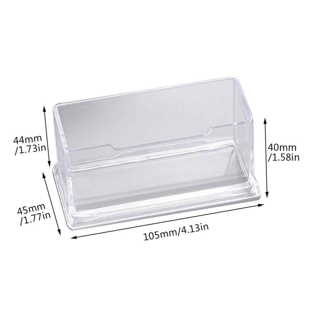 Portable Clear Desk Shelf Box Storage Display Stand Acrylic ...