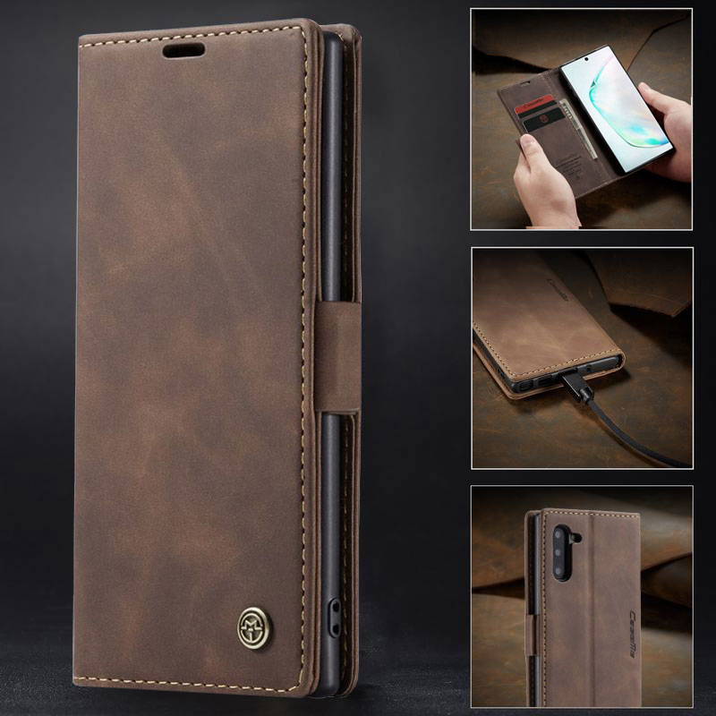 Flip Case For Samsung Galaxy Note 10 Plus 5G Cover Case Wallet Leather Luxury Shockproof Mobile Phone Protector Note 10 + Pro