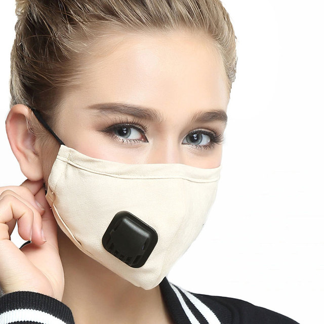 Anti PM2.5 Breathing Mask Cotton Haze Valve Anti-dust Mouth Healthy Mask Activated Carbon Filter Respirator Mouth-muffle Mask 4