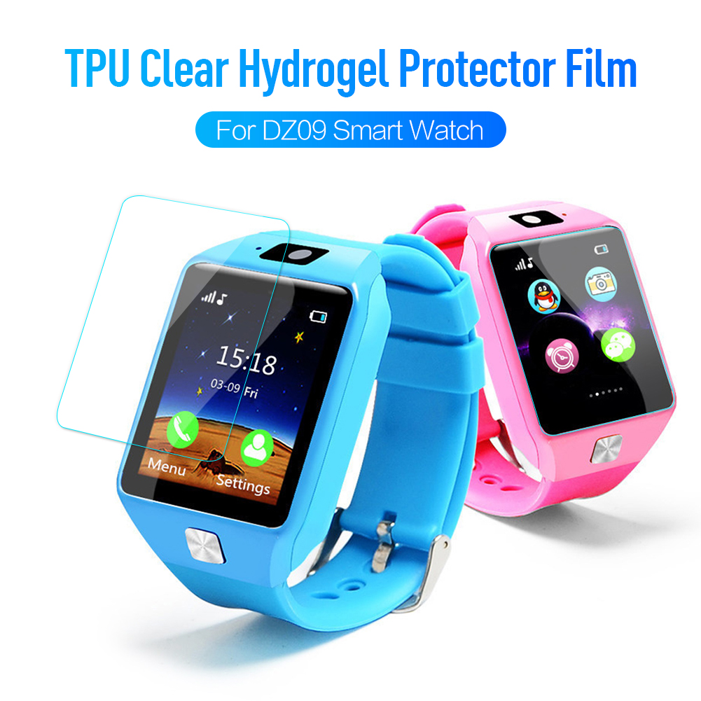 3pcs Protective Film For DZ09 Smart Watch Wristband Bracelet Full Cover Screen Protector 9D Hydrogel FilmTempered Glass