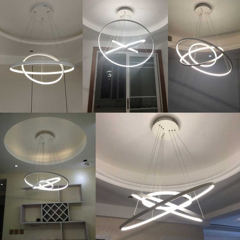 Современный светодиодный подвесной светильник для кухни, столовой, блестящий подвесной потолочный светильник с подвеской, декоративный светильник для дома, halat avize AC90-260v