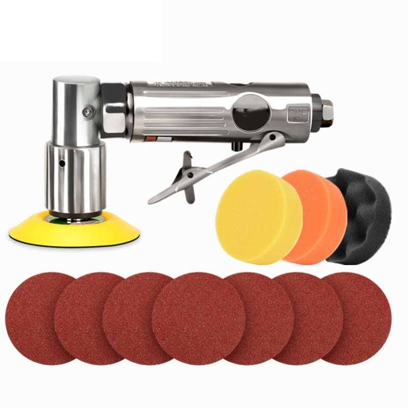 TOP 11Pcs 3Inch Air Palm Sander Car Polisher Buffer Pad Sanding Sets For Car Polishing Buffing And Do Waxing