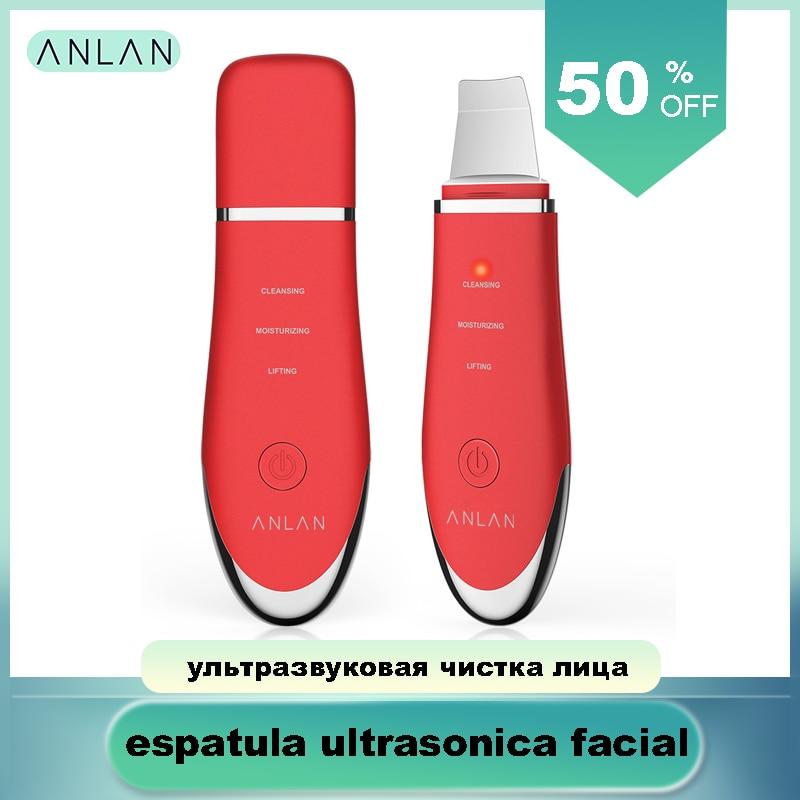 Ultrasonic Skin Scrubber, ANLAN Ultrasonic Face Cleaner Skin Scrubber Cleansing Acne Facial Removal Ultrasonic Vibration Peeling