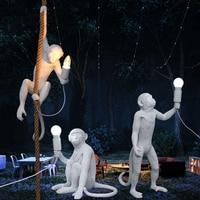Modern Monkey Lamp LED Pendant Lights Lighting Living Room Art Nordic Replicas Resin Hanging Lamp Monkey Lamp Indoor Lamps