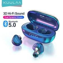 KUULAA – écouteurs sans fil Bluetooth TWS, casque de jeu stéréo HD tactile à Double klaxon, avec empreinte digitale et suppression du bruit