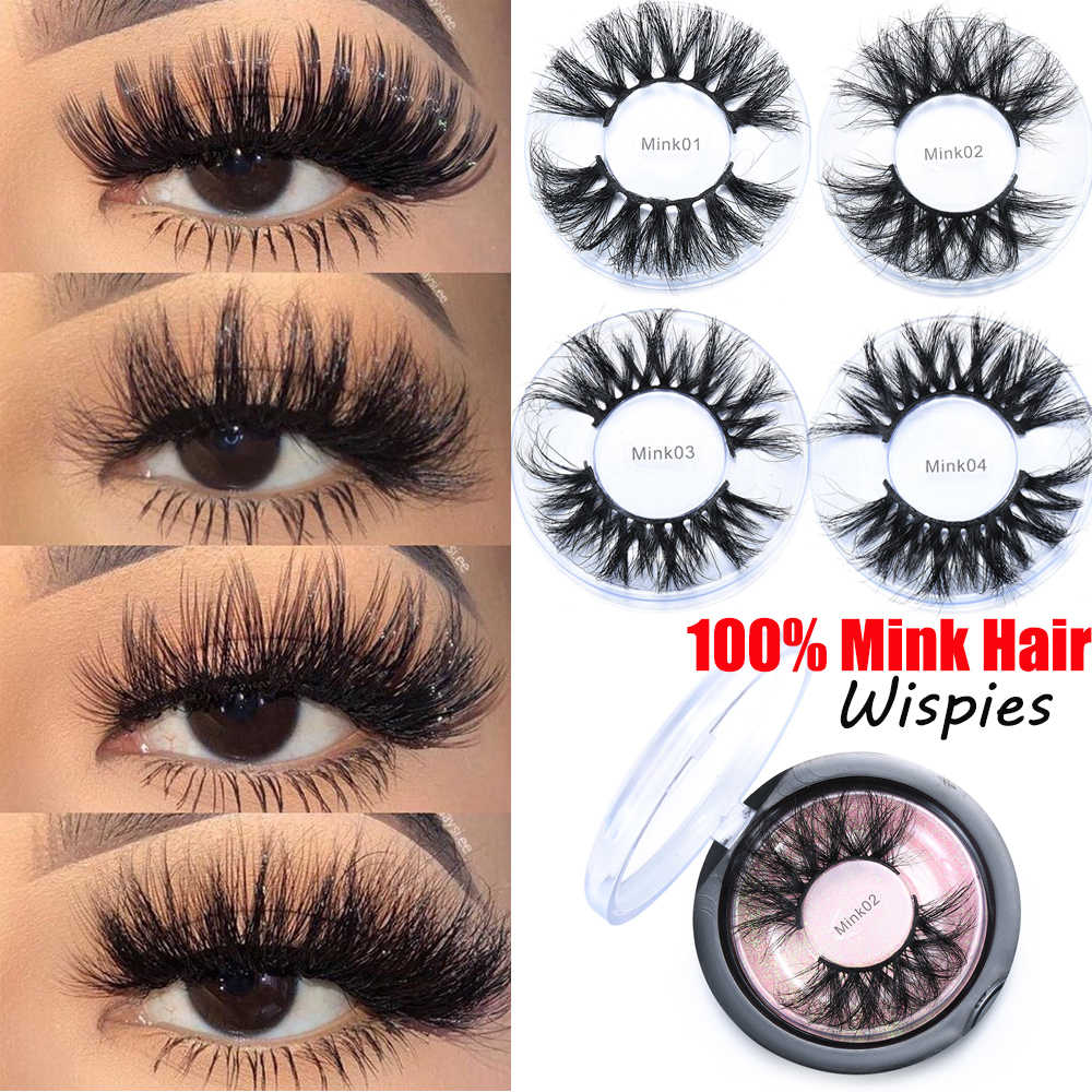 1 Paar 25 Mm 27 Mm 30 Mm Wimpers Handgemaakte Zachte Nertsen Haar Dikke Lange Piekerige Multilayer Pluizige Valse Wimpers extension Eye Make-Up