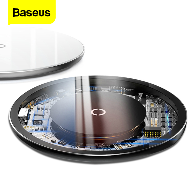 Baseus 10W Qi Wireless Charger For IPhone 11 Pro X Xs Max Glass Fast Wirless Wireless Charging Pad For Samsung S10 Xiaomi Mi 9