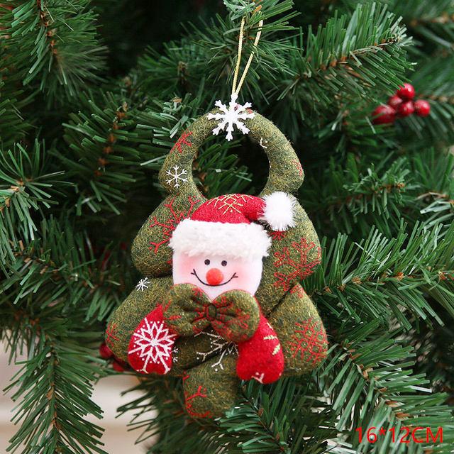 New Year 2020 Cute Santa Claus/Snowman/Angel Christmas Dolls Noel Christmas Tree Decoration for Home Xmas Navidad 2019 Kids Gift 62