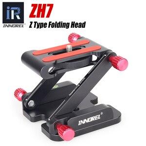 Image 1 - ZH7 للطي Z نوع إمالة ترايبود رئيس فليكس Z عموم لكانون نيكون سوني DSLR كاميرا المتزلجون الإفراج السريع لوحة الألومنيوم أعلى جودة