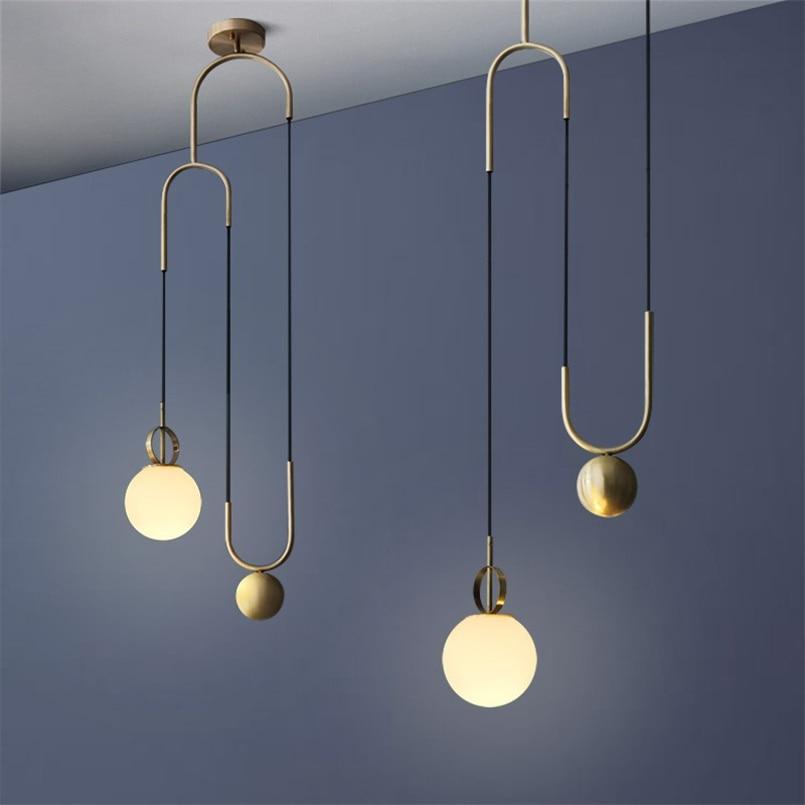 Lampe à suspension en verre industriel nordique orbe lampe à suspension design moderne LED personnalité Bar Restaurant décor lampe à suspendre