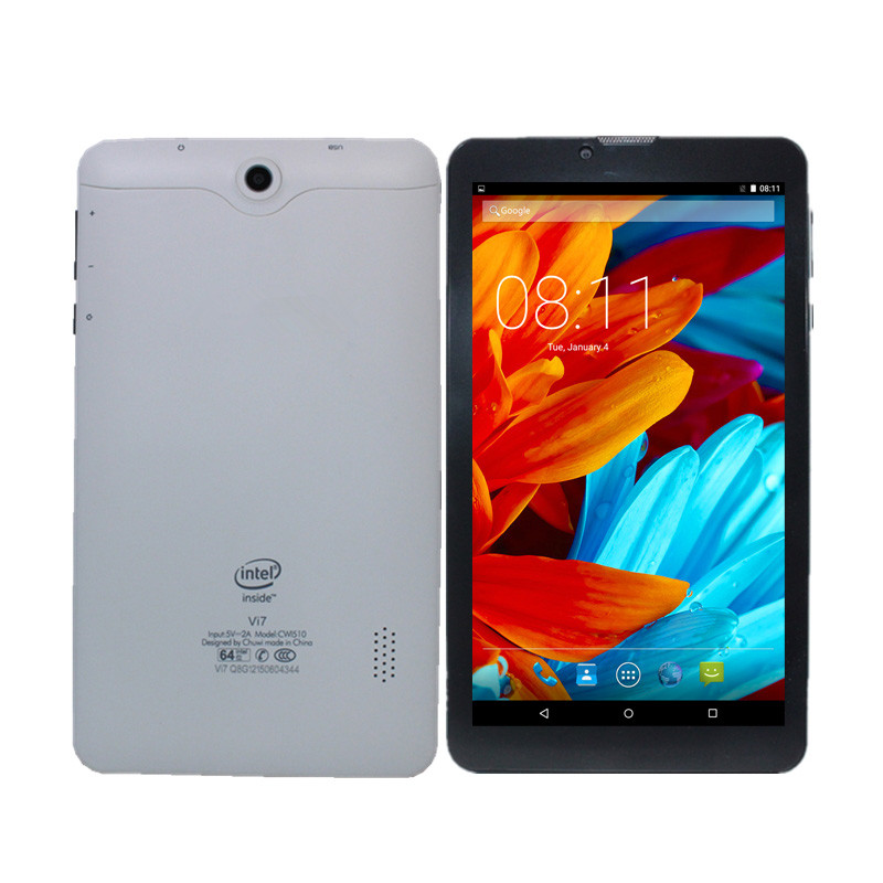 7 Inch Vi7  Tablet PC 3G  Phone Call MTK8321 Quad-Core Wifi GPS Android5.1 Sim Card 1GB+ 8GB 1024*600 IPS Dualcameras