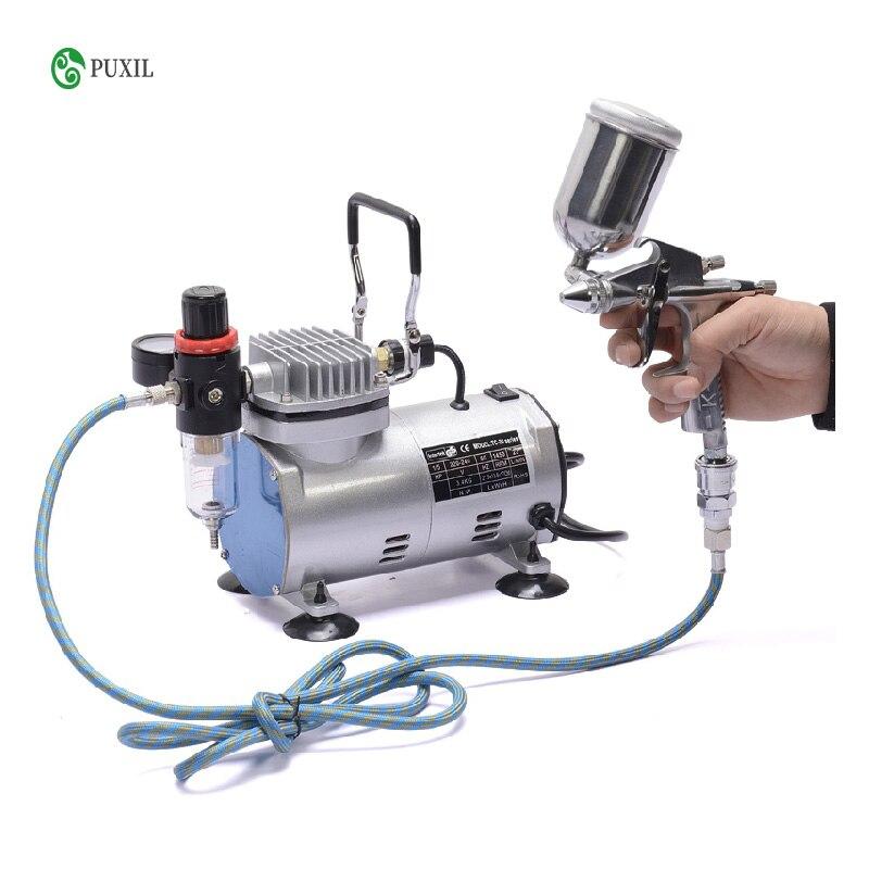 TC 20B 220V 23 25 L/dak 1/5Hp küçük Airbrush kompresörü küçük vakum pompası  hava geçirmez pompa|Machine Centre| - AliExpress