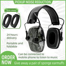 טבעות אוזן אלקטרונית טקטי אוזניות נגד רעש קול הגברה ירי ציד שמיעה הגנת מחממי אוזני מגן