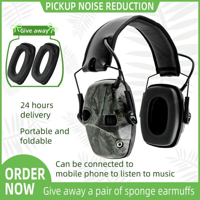 Electronic Ear muff Tactical Headset Anti noise Sound Amplification Shooting Hunting Hearing protection Protective Earmuffs