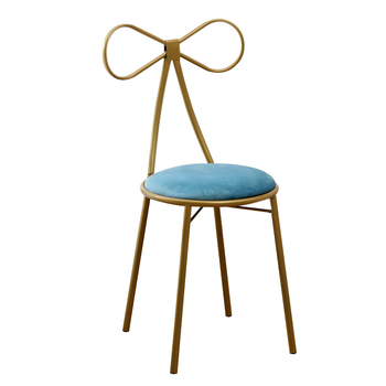 The latest Mini bedroom iron reinforced and cast Nordic make-up chair meteor arc red girl heart stool