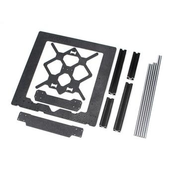 Clone for Prusa I3 Mk3 3D Printer Parts Aluminum Frame Aluminum Black Profile and Smooth Rods Kit