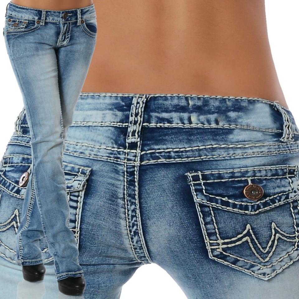2019 Plus Size Jeans Woman Skinny Denim Pencil Jeans Women Mid-Waist Pockets Casual Pants Female Elastic Trousers White Jeans