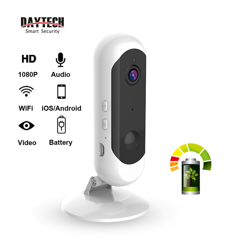 DAYTECH Security WiFi IP Camera Battery 1080P Wireless Home CCTV Monitor Network Record Two Way Audio Full HD 720P Motion Detect