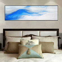 Yuke Art Posters and Prints Wall Canvas Painting Modern Abstract Blue Flowing Pictures For Living Room Home Decor