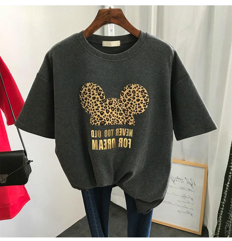 2021 Summer New Harajuku Mouse T Shirt Women Fashion VOGUE Printed Female Cute T Shirts Oversize Short Sleeve Casual TShirt Tops