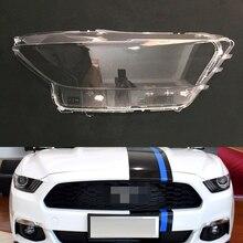 Lente de faro para Ford Mustang, cubierta de repuesto transparente para faro delantero de coche Ford Mustang 2014 2015 2016 2017