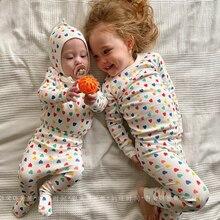 0-3 Years Little Heart Cotton Soft Shirt + Pants 2021 Baby Sets Sleepwear Newborns Girl Baby Clothes For Sleep Bathrobe Children