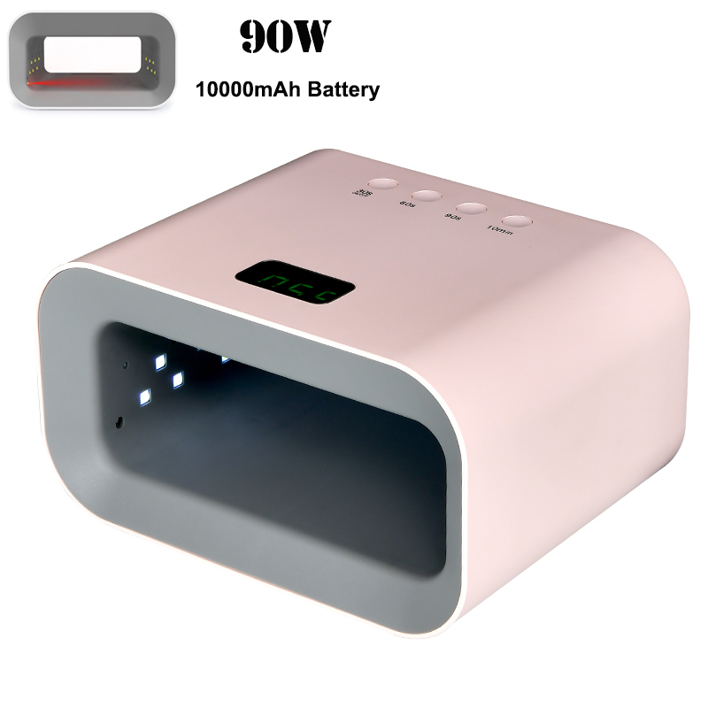 High Power Rechargeable Nail LED Lamp Wireless UV Gel Polish Dryer Gel Curing Light Manicure Lamps Cordless Nail Art Lamp