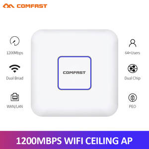 1200Mbps 2.4G/5.8G Dual Band 802.11AC Indoor Ceiling Mount Access Point Wifi Repeater Router AP Home Hotel 80MW Management