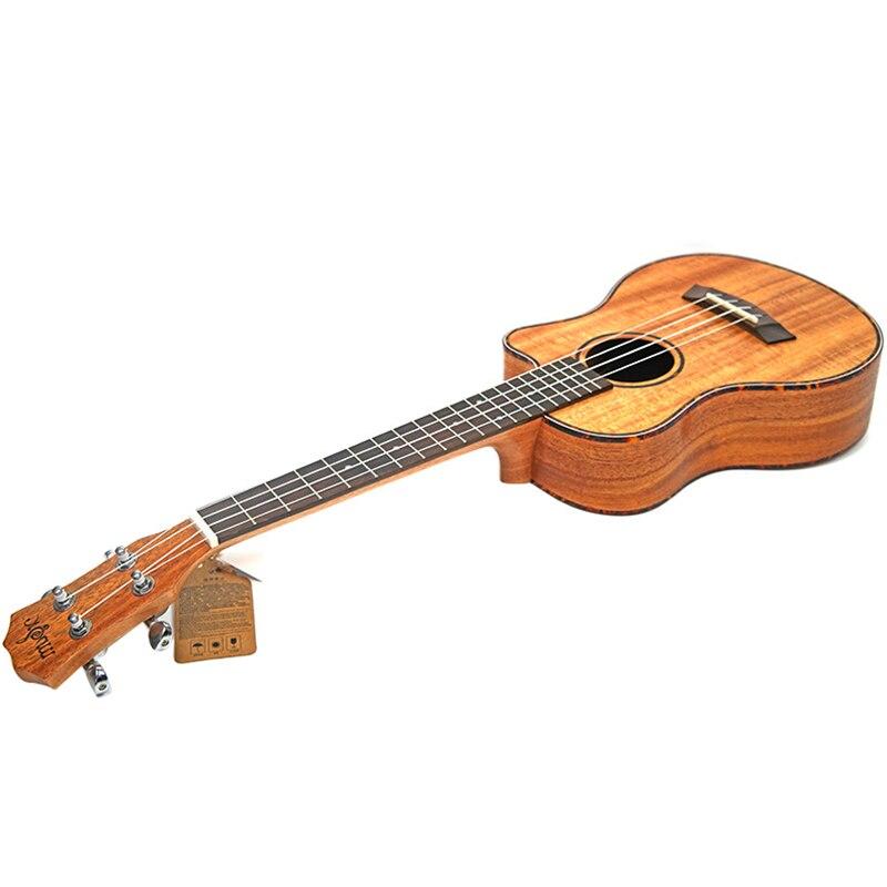 Kits de ukulélé de Concert 23 pouces acajou Uku 4 cordes Mini guitare hawaïenne avec sac accordeur sangle Capo pique des pics pour débutant Musi - 3