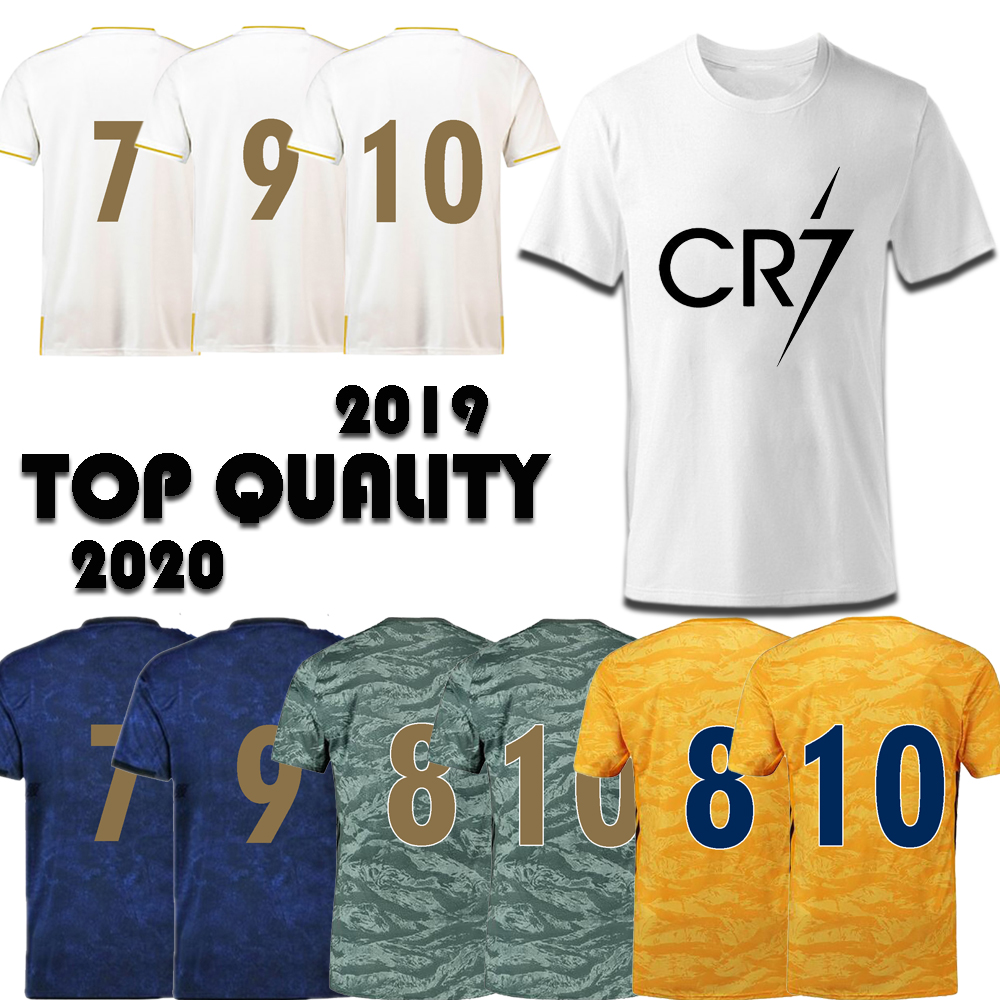 2018 2019 2020 CR7 Men Fashion   T     Shirts   Big Szie S-2XL Home Away Third O-Neck Real Madrid Adult Tops Kids Casual Tshirts Jersey