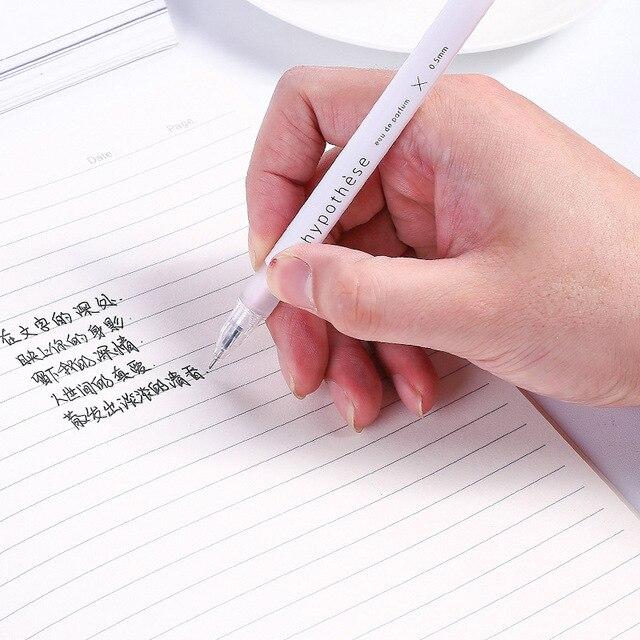 1pc Cute Simple Ball Pens 0.5mm Novelty Ballpoint Pens Kawaii Pens For Kids Girls Gift School Office Supplies Korean Stationery 5